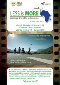 Leggi tutto: Less is more